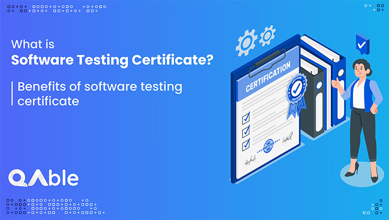 software testing certificate